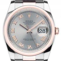 Rolex Datejust 36 Stahl 18kt Roségold Everose Automatik...