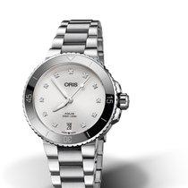 Oris Aquis Date Steel 36,5mm White No numerals