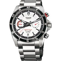 Tudor 20550N-95730 Grantour Chrono Flyback in Steel - On Steel...