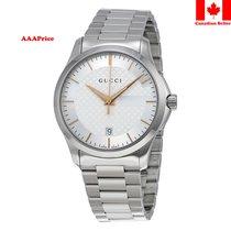 Gucci YA126442 Timeless Wrist Silver Dial, Silver Band...