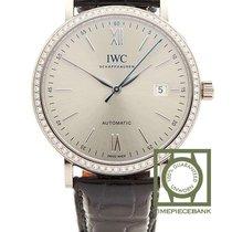 IWC White gold Automatic Silver Roman numerals 40mm new Portofino Automatic