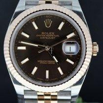 Rolex Date just 40MM Gold/Steel Jubilee, Choco Dial Full Set