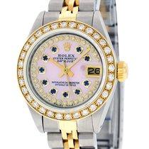 Rolex Datejust SS 18K Yellow Gold MOP Sapphire Diamond Dial