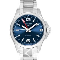 浪琴 LONGINES Conquest GMT Automatic Blue Dial Men's Watch 41mm -