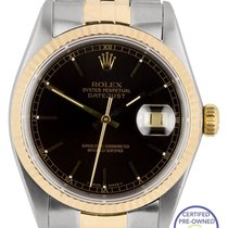 Rolex DateJust 36mm 16013 Two-Tone 18K Gold Stainless Steel...