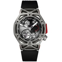 Hublot Techframe Ferrari Tourbillon Chronograph Titanio 45mm Negro