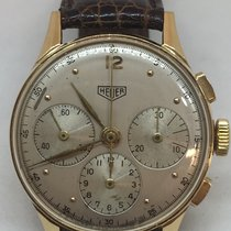Heuer Yellow gold 36mm Manual winding 82736 pre-owned