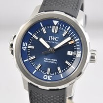 IWC Aquatimer Automatic pre-owned 42mm Blue Date Rubber