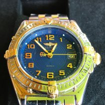 Breitling Wings Lady Acero y oro 32mm Azul Árabes