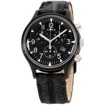 Timex Steel Quartz Black Arabic numerals 42mm new