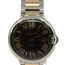 Cartier Ballon Bleu 42mm Gold/Steel 42mm Brown Roman numerals United States of America, New York, New York