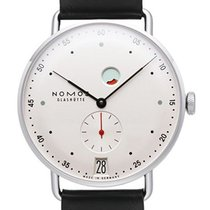 NOMOS Metro Datum Gangreserve Steel 37mm White