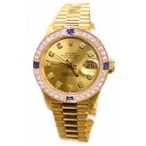 Rolex Lady-Datejust Or jaune 26mm Champagne