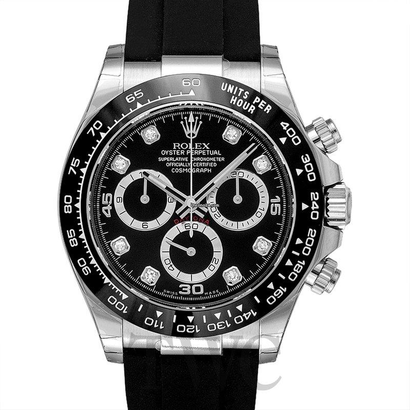 the best attitude 2bf97 681f0 Rolex Cosmograph Daytona 18ct White Gold Automatic Black Dial Diam