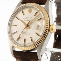 Rolex Oyster Perpetual Datejust Edelstahl/Gold an Lederband...