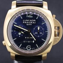 Panerai Luminor Pink Gold Blue Dial Monopulsante 8 Days Full Set