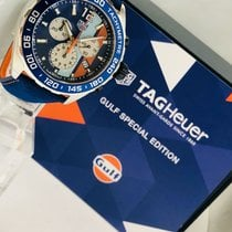TAG Heuer FORMULA 1 GULF Blue and Orange Leather Strap
