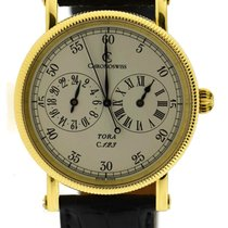 Chronoswiss Yellow gold Automatic Silver 38mm pre-owned Tora
