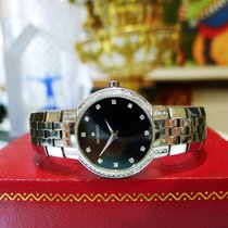 Movado Faceto Diamond Watch 84 A1 1845 Stainless Steel Black...