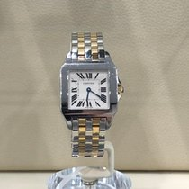 Cartier Santos Demoiselle pre-owned 26mm White Gold/Steel