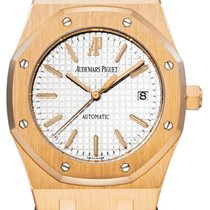 Audemars Piguet Royal Oak Selfwinding tweedehands 39mm Wit Datum Krokodillenleer