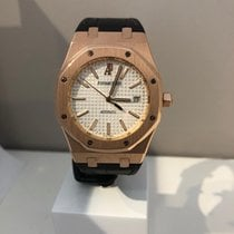 Audemars Piguet Royal Oak Selfwinding Roségoud 39mm Wit Geen cijfers
