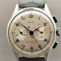Gallet pre-owned Manual winding 35,5mm Silver Plexiglass Not water resistant