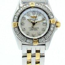 Breitling B72345 Gold/Stahl Callistino 28mm gebraucht