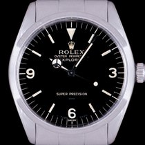 Rolex Explorer Steel 34mm Black Arabic numerals