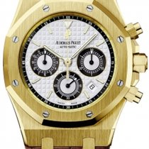 Audemars Piguet Yellow gold Automatic Silver No numerals 39mm new Royal Oak Chronograph