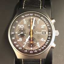 Sinn 144 pre-owned 41mm Grey Chronograph Date GMT Tachymeter Leather