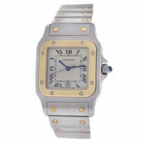 Cartier Mens Unisex Santos Galbee 187901 Date 29MM Quartz