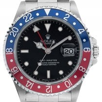 Rolex GMT Master rot blau Pepsi Stahl Automatik Armband Oyster...