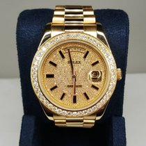 Rolex Day-Date II new Automatic Watch with original box 218238 chrdp