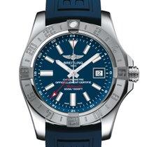 Breitling Avenger II GMT Stahl 43mm Blau