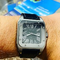 Cartier Santos 100 Acier 38mm Gris Romain France, Marseille