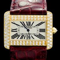 Cartier Tank Divan Zuto zlato 38mm Bjel Rimski brojevi
