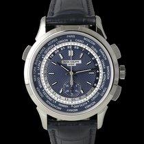 Patek Philippe World Time Chronograph Witgoud 40mm Blauw