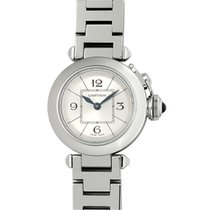 Cartier Pasha Steel 27mm Silver Arabic numerals