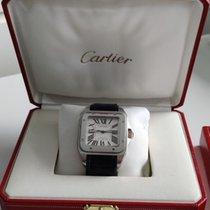 Cartier Santos 100 Сталь Чёрный Римские