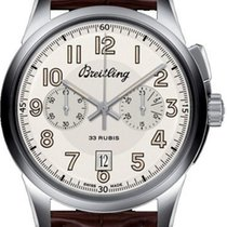 Breitling Transocean Chronograph 1915 Steel 43mm White Arabic numerals