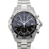 TAG Heuer Aquaracer Automatic Chronograph 41 Black Dial Steel...