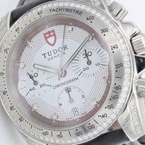 Tudor Chronograph mit Brillanten 20310 Krokoleder
