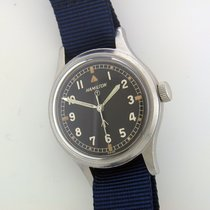 Hamilton 6B Military R.A.F. steel manual watch Collectable