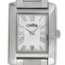 Condor Classic Stainless Steel Mens Watch Date Silver Dial CWS106