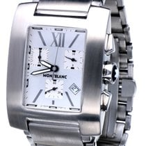 Montblanc Profile pre-owned 34mm Silver Date Steel