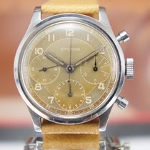 Eterna Vintage Oversize Chronograph Tropic Dial