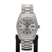 Rolex Day-Date in white gold with NEW ROLEX SERVICE