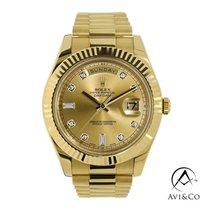 Rolex Day-Date II Oro amarillo 41mm Oro Sin cifras