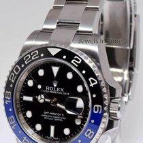 Rolex GMT-Master II Black/Blue Mens Ceramic Steel Box/Card...